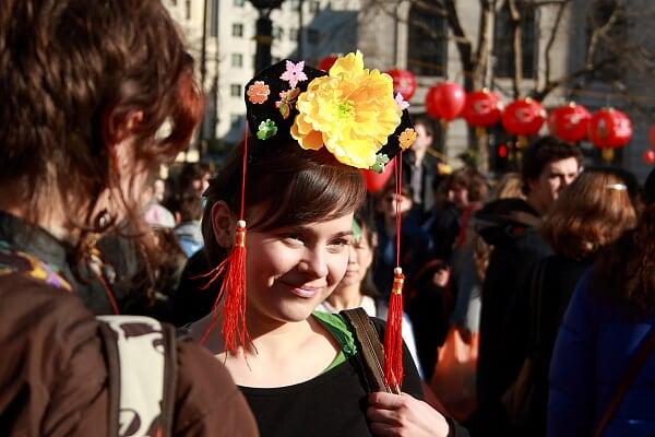 春节里的伦敦小姑娘