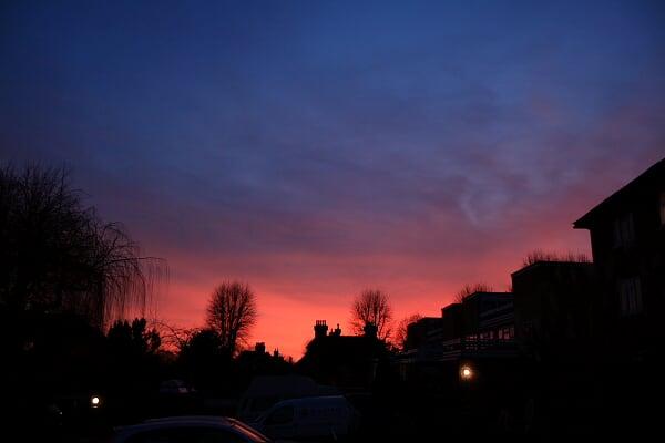 傍晚5点钟的伦敦天空