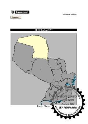 Mapa Alto Paraguay