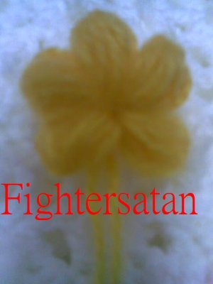 白圍巾-黃色小花